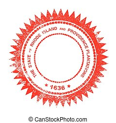 Rhode Island Rubber Ink Stamp - The State Seal of Rhode...