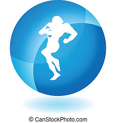 Quarterback web button isolated on a background