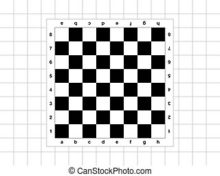 Chessboard - The chessboard on the checkered background