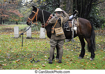 British World War One Cavalry Soldier - British world war...