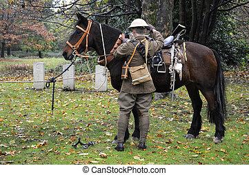 British World War One Cavalry Soldier - British world war...