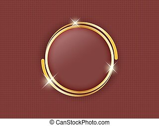 Gold ring with space for text in the middle of a dark background.