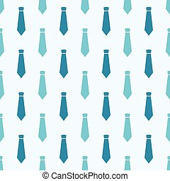 Vector seamless pattern with blue neckties. Male hipster...