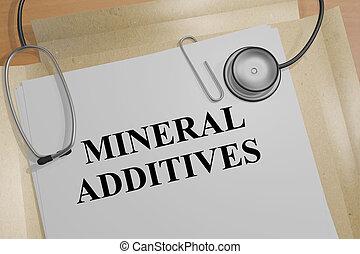Mineral Additives - medical concept - 3D illustration of...