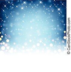 Festive blue luminous background. Vector illustration.