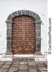 Side door of the chapel Ermita San Telmo in Puerto de la...