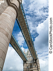Magnificence of Tower Bridge, London.