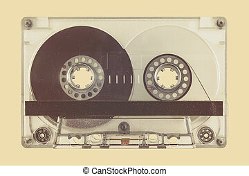 Retro styled image of a compact cassette - Retro styled...
