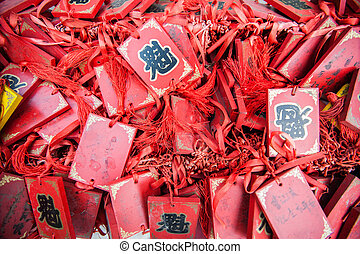 Traditional Chinese amulet - Red Traditional Chinese amulet...