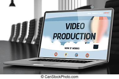 Video Production Concept on Laptop Screen. 3D. - Video...