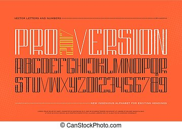 orange keen - high style alphabet letters and numbers...
