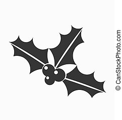 Holly berries icon - Holly berries black icon. Vector...