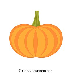 Pumpkin icon vector - Pumpkin icon. Simple vector...