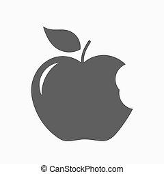 Bitten apple icon. Vector illustration