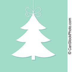 White Christmas tree ornament. Vector illustration