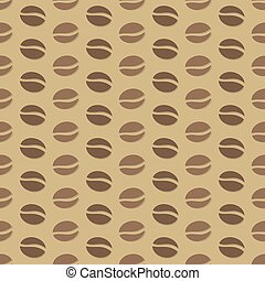 Coffee beans pattern. Vector illustration