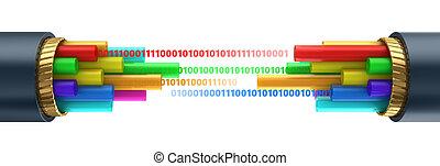 fiber optics cable - 3d illustration of fiber optics cable...