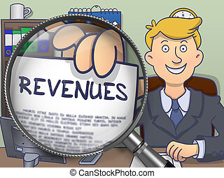 Revenues through Magnifier. Doodle Style. - Revenues....