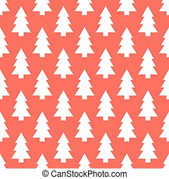White Christmas trees pattern - White Christmas trees...