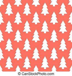 White Christmas trees pattern - White Christmas trees...