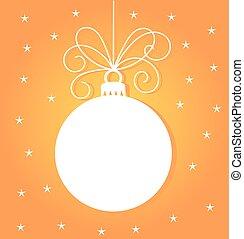 Christmas bauble card