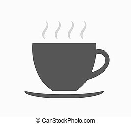 Coffee cup icon - Shape of coffee cup icon. Vector...