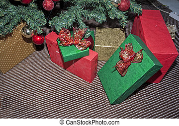 Christmas and New Year decorations and gifts