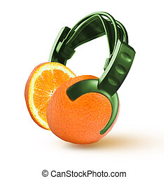 headphones in the form of an orange