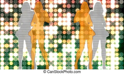 Abstract Loopable Background with nice dancing girls