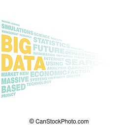 Big data concept word tag