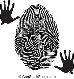 Fingerprint-Palm print - Illustration of fingerprint and...