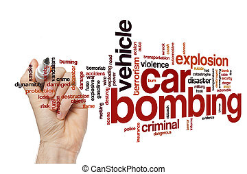 Car bombing word cloud concept