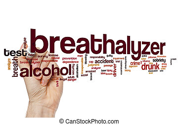 Breathalyzer word cloud concept