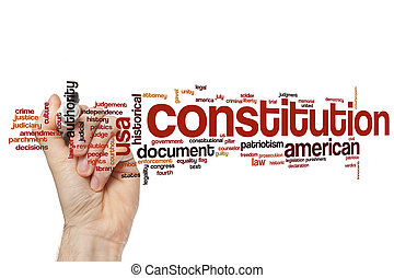 Constitution word cloud concept