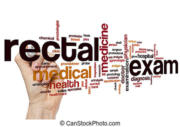 Rectal exam word cloud concept