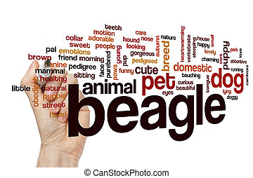 Beagle word cloud concept - Beagle word cloud