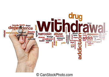 Withdrawal word cloud concept