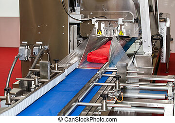 Packaging line machine