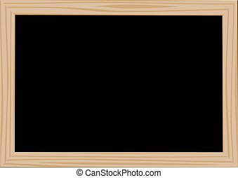 Wooden frame blackdesk