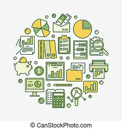 Accounting and business illustration