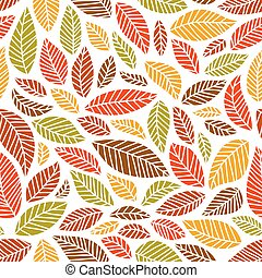 Seamless fall leaves pattern