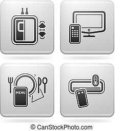 Hotel Related Icons - Various hotel icons: Elevator, Pay TV,...