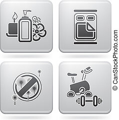 Hotel Related Icons - Various hotel icons: Health and Beauty...