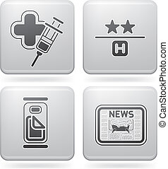 Hotel Related Icons - Various hotel icons: Medical Service,...
