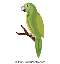parrot bird isolated icon
