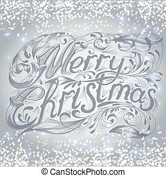 Merry Christmas lettering design message. Christmas greeting...
