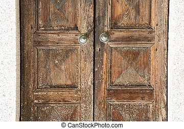 santo an in a door curch wood lombardy italy varese - santo...