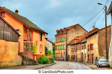 Traditional houses in La Petite-Raon, a village in the...