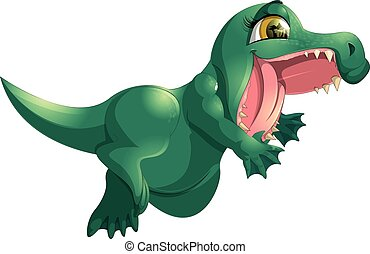 beautiful green crocodile