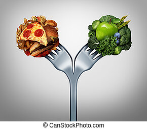 Unhealthy And Healthy Food - Unhealthy and healthy food and...